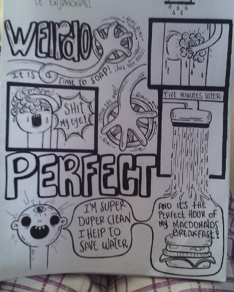 Comic cartoon weirdoart weirdo water savewater save