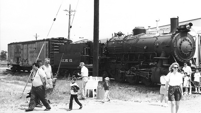Ventura County Railway Steam Locomotive 2 Black and White