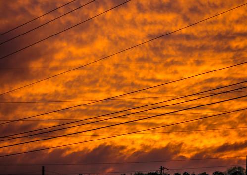 sunset arizona orange nature phoenix beautiful clouds us afternoon unitedstates outdoor dramatic az wires