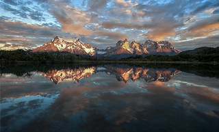 Happy Earth Day!  Sunrise over Torres del Paine National Park, Chile.   by Christopher.Michel