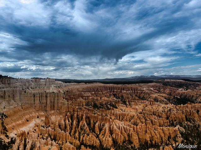 Bryce Canyon with rainclouds. Utah. US.