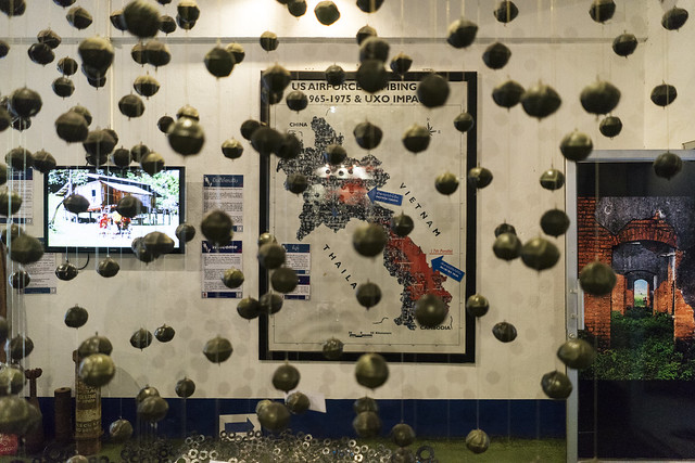 Cluster Bomb Decor at COPE (Cooperative Orthotic & Prosthetic Enterprise) Visitor Centre