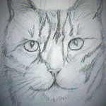 Blick in deine Seele, Bleistiftzeichnung