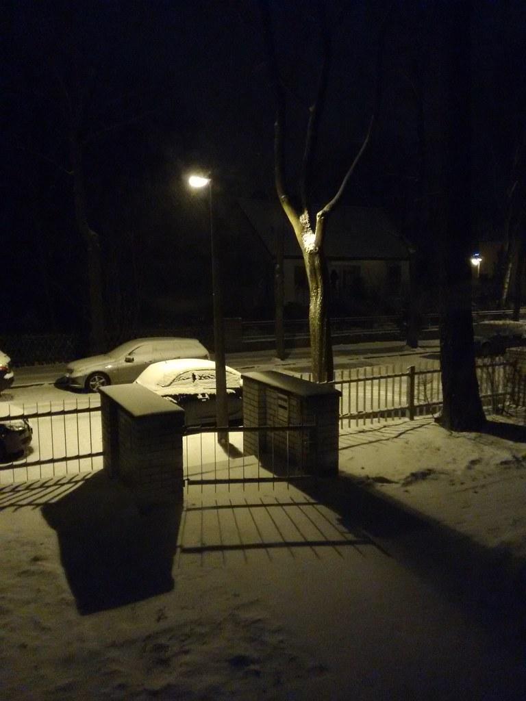 Guten Morgen Lieber Schnee Snow Winter Night Dark