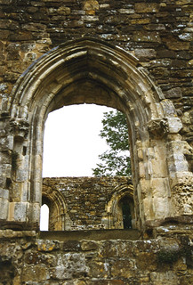 arches in ruined church wall | by lisafree54