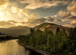 Just got word that some video work I did with @visitmissoula is going live soon on @matadornetwork ... Stay tuned!   Here's a ridiculous sunrise over Mt. Sentinel and the Clark Fork in the last morning of the shoot...forest fire skies finally cleared to g | by ElCapitan