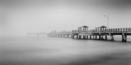 longexposure bw beach fog digital landscapes tampabay florida piers fineart ftdesoto 2016 floridagulfcoast leebigstopper afsnikkor50mmf18g jaspcphotography nikond750