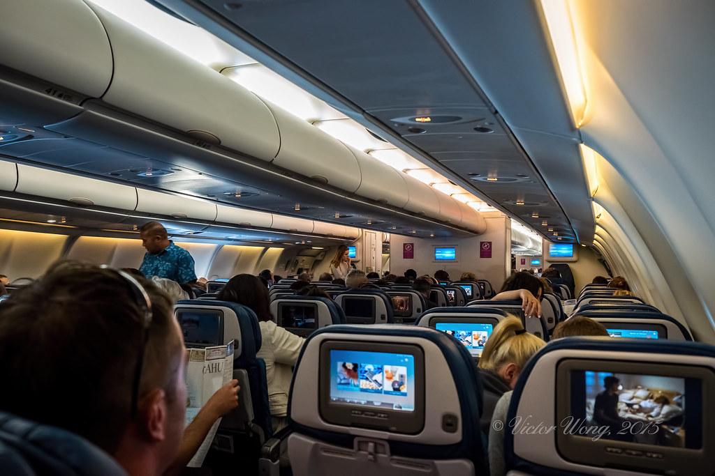 Onboard Hawaiian Airlines