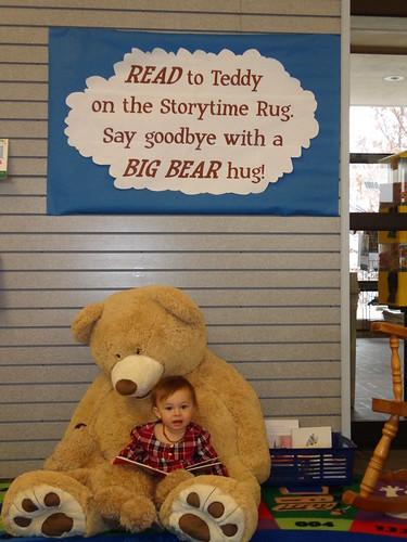 Jan. 2016 Reading to a bear at W. Clarke Swanson Branch