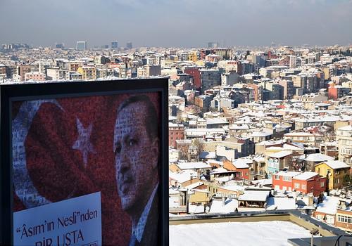 Плакат с президентом Эрдоганом. Стамбул, Турция   by varfolomeev