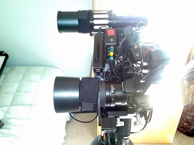 Side by side DSLR setup 3