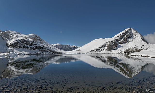 Nieve en los lagos