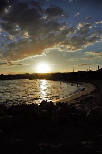 ocean sunset sea sky beach water landscape coast seaside outdoor shore jamaica stcatherine hellshire
