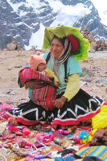 Craft seller near Jampa Pass