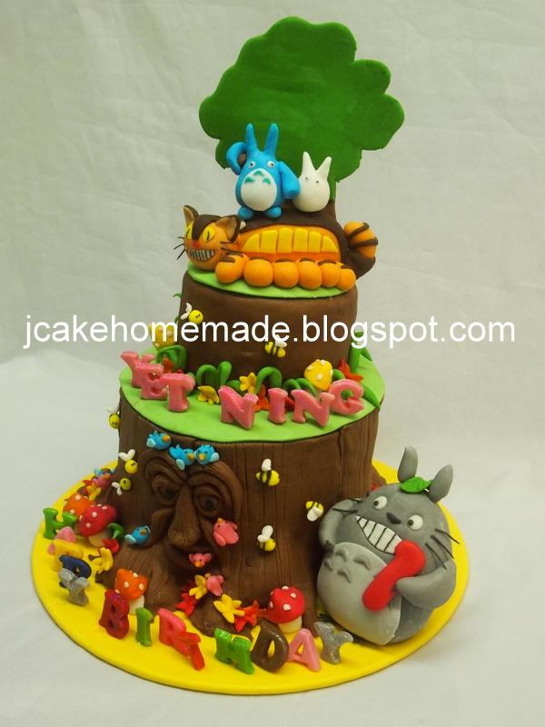 Amazing My Neighbor Totoro Birthday Cake A Photo On Flickriver Funny Birthday Cards Online Aeocydamsfinfo