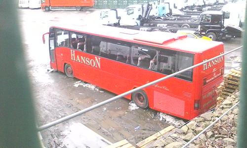 Slowly rotting  away is former #Hanson/#Abbeyways coach still being stored in #Chaddetton with some broken windows #Y741DDA