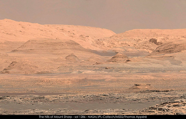 The hills of Mount Sharp - sol 1286