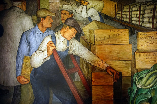 Coit Tower murals - agricultural packing and shipping