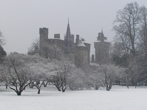 Cardiff Castle in February
