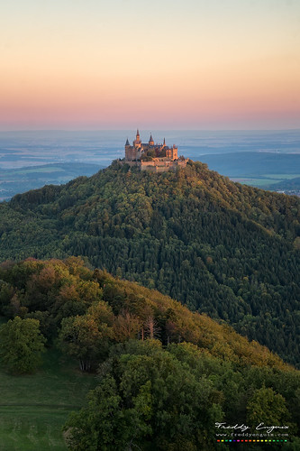 hohenzollern burg castle freddyenguix full moon sunrise super