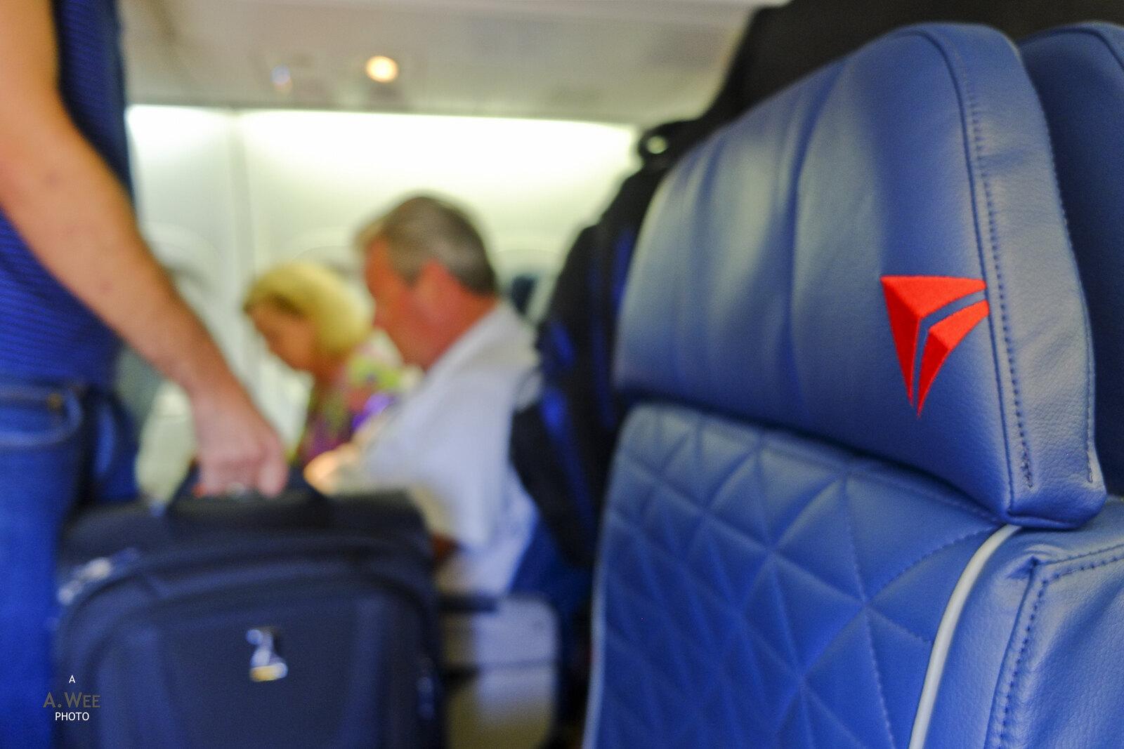 Boarding the plane