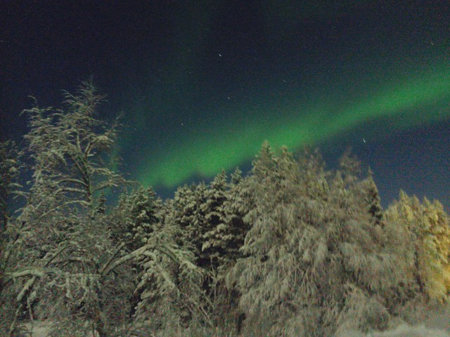 The aurora from Levi Finland taken with night-cap on the iPhone