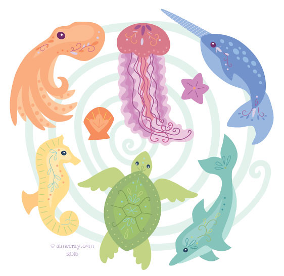 picture relating to Printable Sea Creatures called printable sea creatures banner suits my fresh felt sea cre