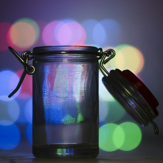 Bottle & LEDcube