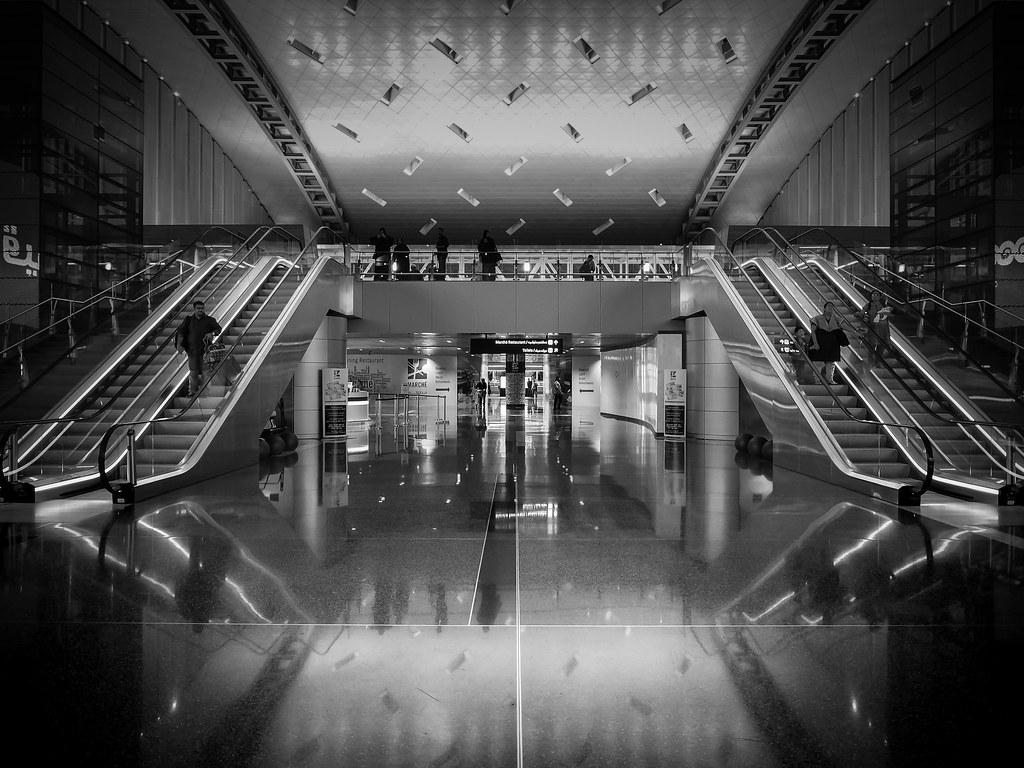 As Above So Below Doha International Airport Escalators Marco