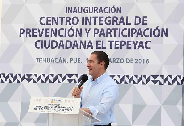 MORENO VALLE HACE UN LLAMADO AL AYUNTAMIENTO DE TEHUACÁN A TRABAJAR DE MANERA COORDINADA EN BENEFICIO DE LOS CIUDADANOS