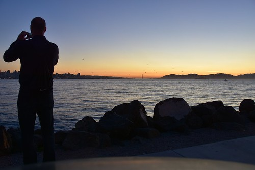 sanfrancisco sunset water silhouette night bay nikon treasureisland goldengatebridge sanfranciscobay califrnia 18200mmvr stevelamb d7200