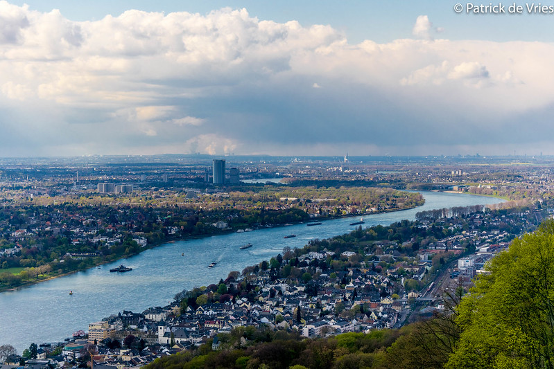 The River Rhine as seen from the Drachenfels