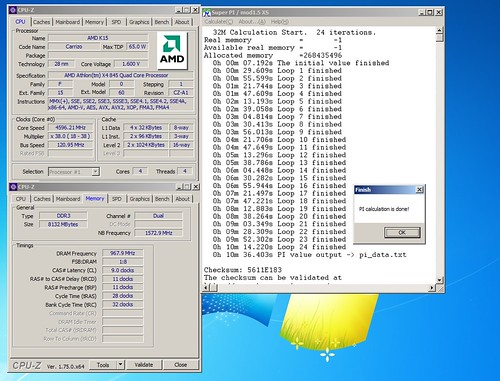 athlon x4-845@4596MHz Superpi 32M= 10m 36.403s   by flankerp