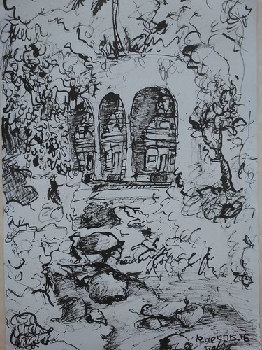 I Made Kartiyoga , Diam Dalam Hening, 30 x 21 cm Ink on Paper