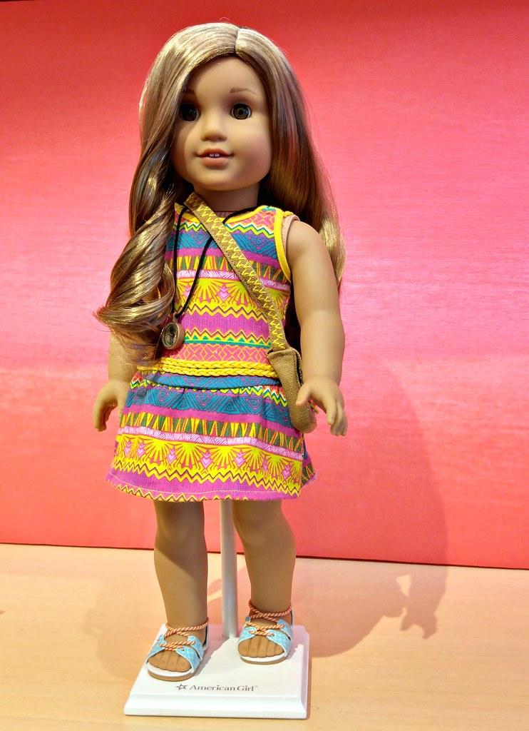 "American Girl Lea Clark 2016 Lea/'s Mix /& Match Swim Set 18/"" Doll Swimsuit NEW"