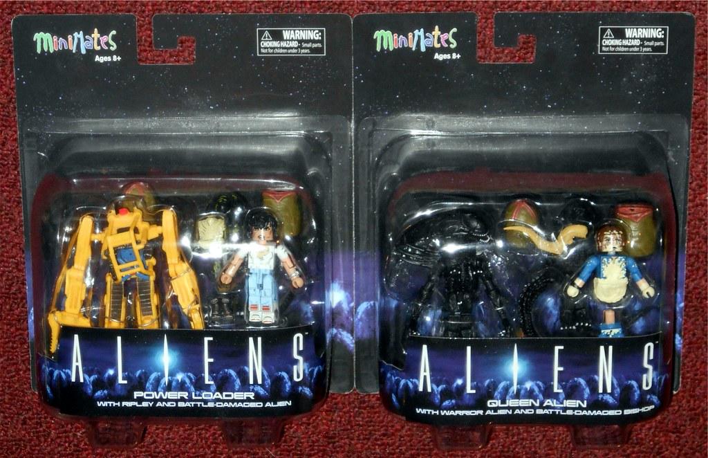 Aliens Minimates Deluxe Power Loader with Ripley /& Battle Damaged Alien