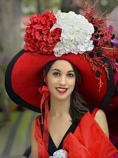 Flower Girl - Spectacular Red Hat