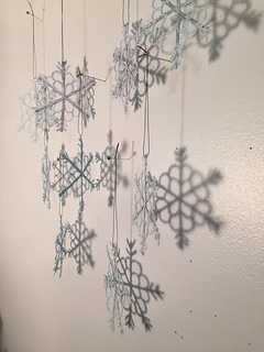snowflake ornaments | by squishythings