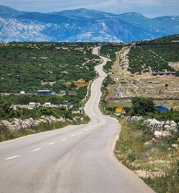 Cesta za Mandre na Pagu