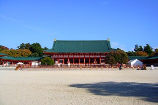 Heian Shrine, Daigokuden (Worship Hall) -1 (November 2008)