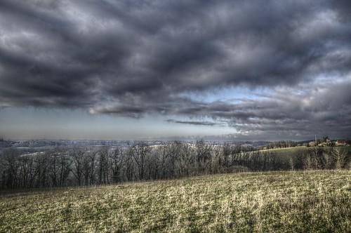 blue sky panorama clouds landscape lot jour vue quercy midipyrénées uzech pentaxk5