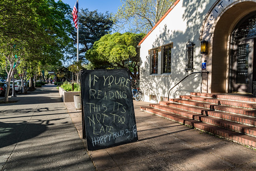 City Hall Tavern Sidewalk Sign - Davis, California