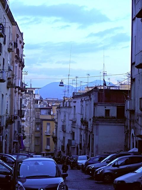 Salita della Stella and Vesuvius in Naples