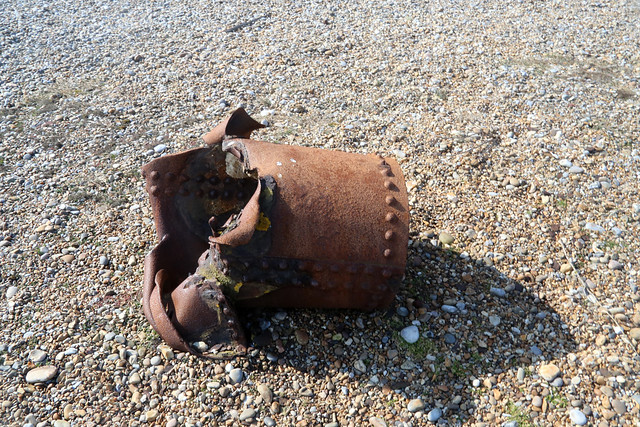 Remains of a bomb, Orford Ness