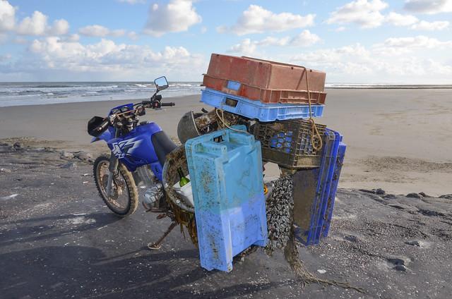 Vlieland - strand - noordwestenwind kracht 5 bft.