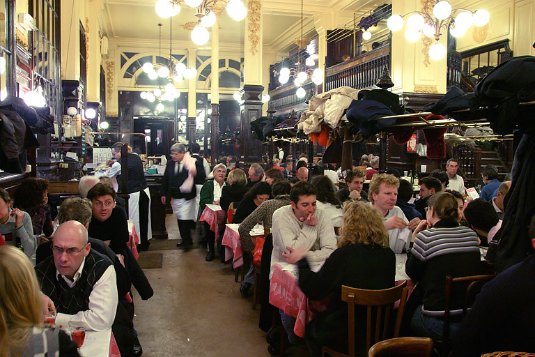 Inside Chartier Restaurant