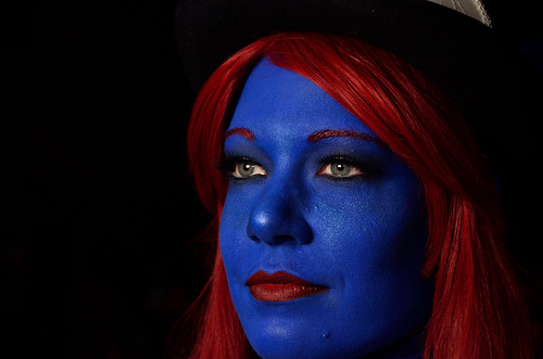 Cosplay Girl in Blue