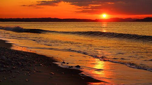morning sea japan sunrise waves glory sony enoshima morningglory syounan seawaves kawagawa gloriousmorning sal70300g laea3 ilce7m2 syounanheadland