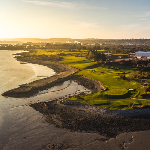 ocean ireland light sunset sun green golf golden cork aerial course hour x5 drone fota dji zenmuse inspire1