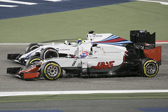 F1 race - Grosjean and Massa